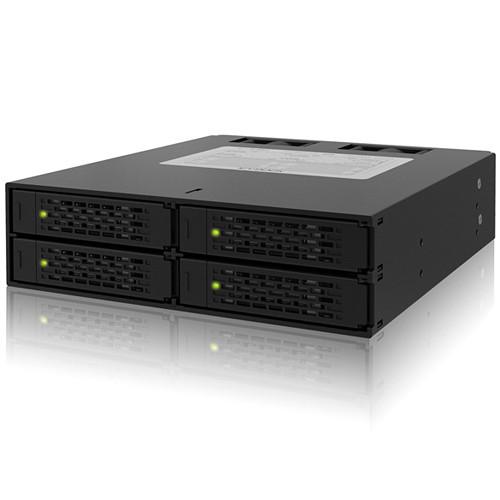"Icy Dock ToughArmor 4-Bay 2.5"" SAS/SATA HDD/SSD Backplane Cage for 5.25"" Bay"