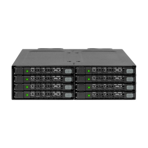 """Icy Dock ToughArmor MB998SP-B 8 x 2.5"""" SATA HDD/SSD Backplane Cage"""