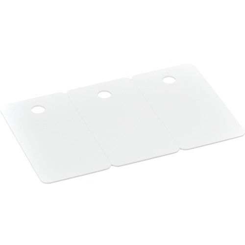 IDC CR-80/30 3-UP PVC Cards for Key Tags (500 Cards)