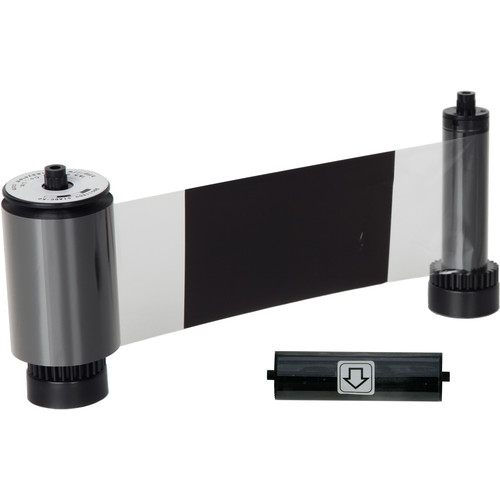 IDP KO Black with Overlay Ribbon for Smart 30 and 50 Series Printers with Cleaning Roller (600 Cards/Roll)