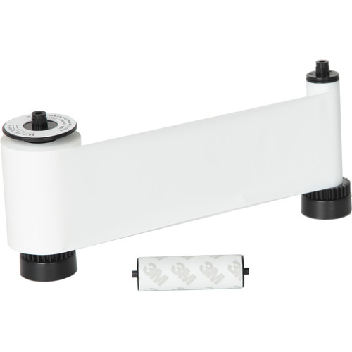 IDP SIADC-P-W Resin White Ribbon with Disposable Cleaning Roller for SMART-30S/SMART-50 Printers (1,200 Cards/Roll)