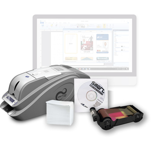 IDP SMART-50D Dual-Sided ID Card Printer Kit