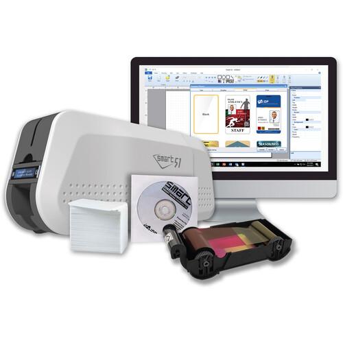 IDP SMART-51D Dual-Sided ID Card Printer Kit