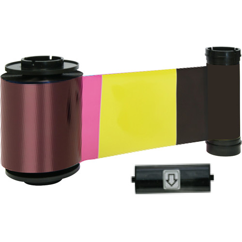 IDP YMCKOK Full-Color, Two Resin Black and Overlay Panel Ribbon with Cleaning Roller (500 Cards/Roll)