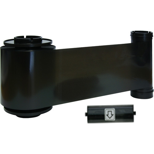 IDP K Resin Black Ribbon with Cleaning Roller (3000 Cards/Roll)