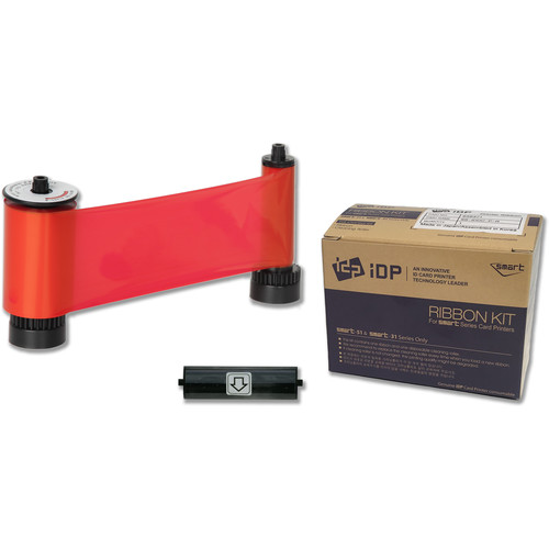 IDP R Resin Red Ribbon for SMART-51 Printers