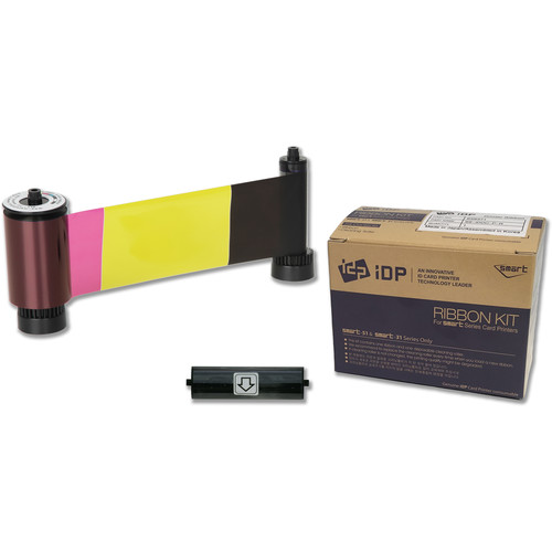IDP YMCKOK Full-Color Ribbon with Overlay Panel for SMART-51 Printers