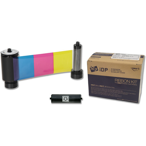 IDP YMCKO Half-Panel Color Ribbon with Overlay Panel for SMART-51 Printers