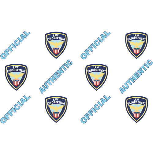 IDP Hologram Patch Type 1-Mil Laminate Film (Official Police, 500 Images Per Roll)