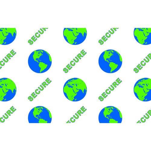 IDP Hologram Patch Type 1-Mil Laminate Film (Secure Globe, 500 Images Per Roll)