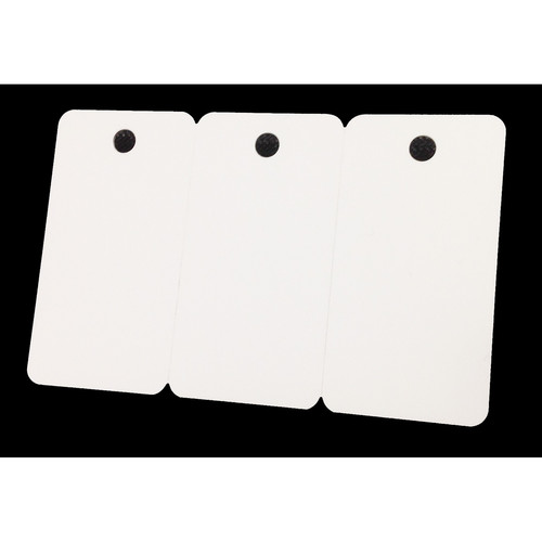 IDP CR-80 PVC Graphic-Quality Key Tag 3-Up ID Cards (30 mil, 1000 Cards)