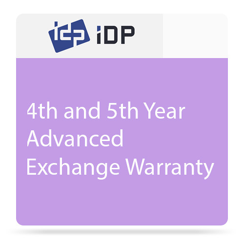 IDP 4th and 5th Year Advanced Exchange Warranty for SMART 30, 31, 50, and 51 Printers