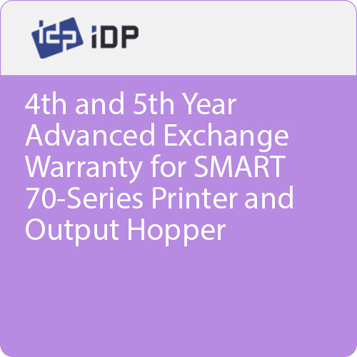 IDP 4th and 5th Year Advanced Exchange Warranty for SMART 70-Series Printer and Output Hopper