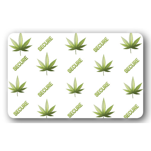 """IDP Hologram Patch Type 1-Mil Laminate Film (25Mic """"Cannabis Secure"""", 250 Images/Roll)"""