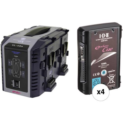 IDX System Technology Four 14.8V 73Wh Li-Ion V-Mount Batteries & Quad Charger Kit