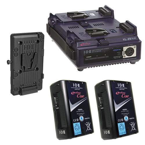 IDX System Technology Endura Cue-D150 V-Mount 2-Battery Kit for AJA CION