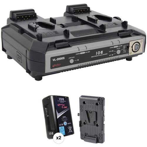 IDX System Technology Endura Cue-D150 V-Mount 2-Battery Kit for Blackmagic URSA