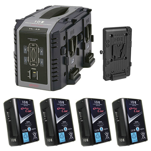 IDX System Technology Endura Cue-D150 V-Mount 4-Battery Kit for AJA CION
