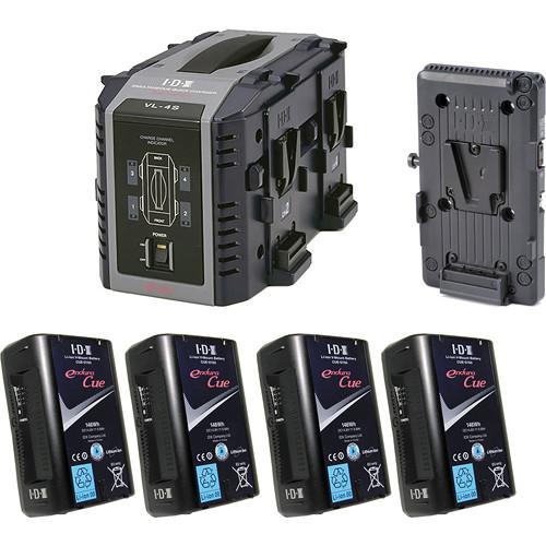 IDX System Technology Endura Cue-D150 V-Mount 4-Battery Kit for Blackmagic URSA