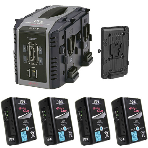 IDX System Technology Endura Cue-D95 V-Mount 4-Battery Kit for AJA CION