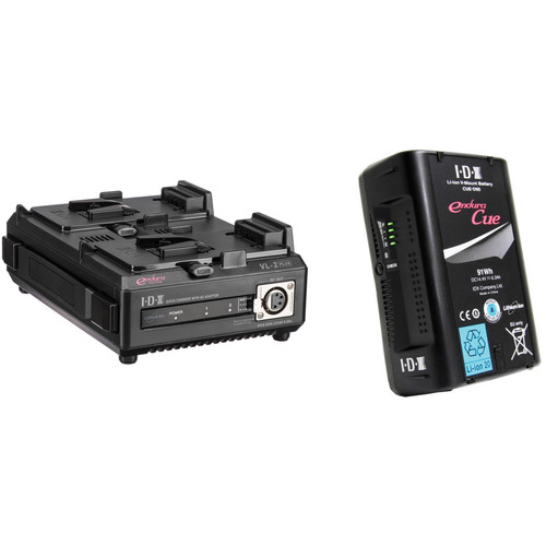 IDX System Technology CUE D-95 Li-Ion V-Mount Battery with VL-2 Dual Sequential Charger Kit