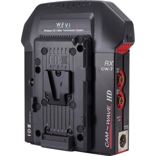 IDX System Technology CW-7 1/2 SD/HD-SDI Wireless Receiver for CW-7 Transmitter (V Mount)