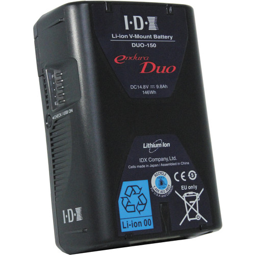 IDX System Technology 4x DUO-150 V-Mount Batteries & 4-Channel Endura Charger Kit