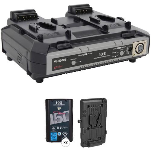 IDX System Technology Endura Duo-150 V-Mount 2-Battery Kit for AJA CION