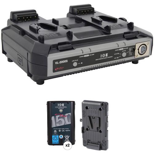 IDX System Technology Endura Duo-150 V-Mount 2-Battery Kit for Blackmagic URSA