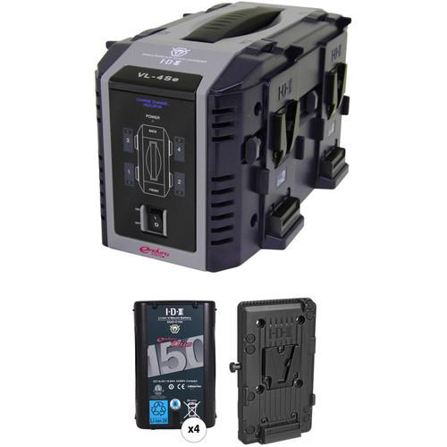 IDX System Technology Endura Duo-150 V-Mount 4-Battery Kit for AJA CION
