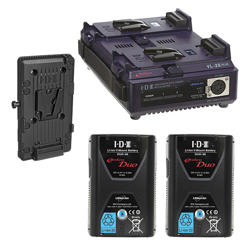 IDX System Technology Endura Duo-95 V-Mount 2-Battery Kit for AJA CION