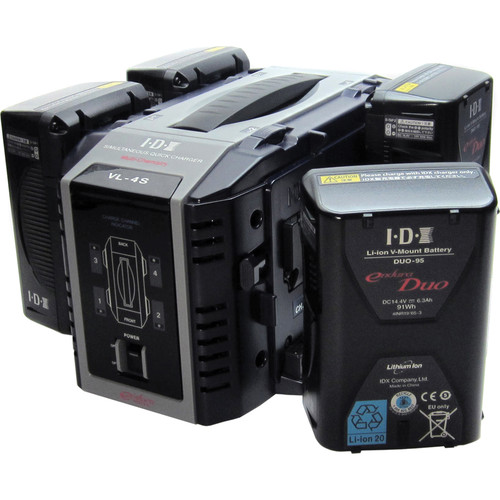 IDX System Technology Duo-95 Li-ion V-Mount Batteries with VL-4S Quick Charger Kit