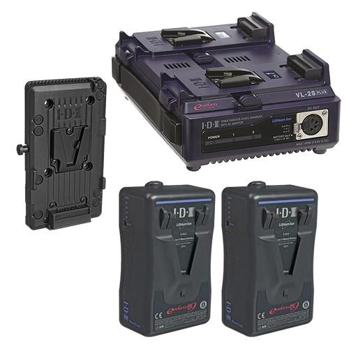 IDX System Technology Endura HL9 V-Mount 2-Battery Kit for AJA CION