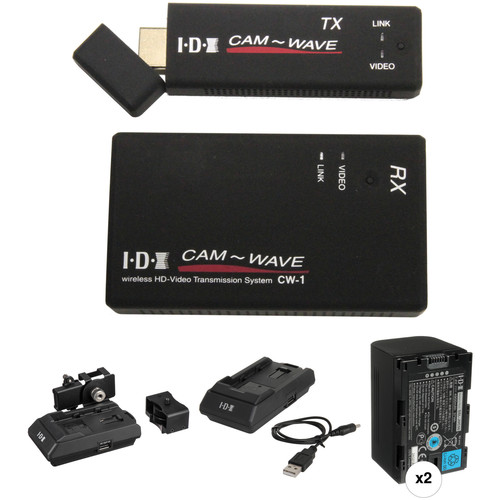 IDX System Technology CW-1 Wireless Transmission System with TX & RX Adapters and JVC SSL-JVC50 Kit