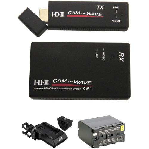 IDX System Technology CW-1 Wireless Transmission System with TX Adapter and Watson NP-F975 Kit