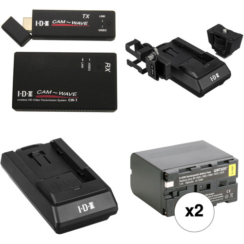 IDX System Technology CW-1 Wireless Transmission System with TX & RX Adapters and Sony L Series Kit