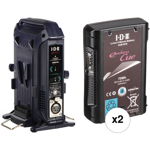IDX System Technology CUE-D75 73Wh V-Mount 2-Battery Kit with Dual-Battery Charger