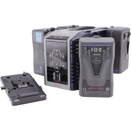IDX System Technology Endura HL9 Power Kit with 4-Channel Charger and Battery Plate