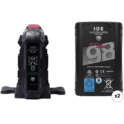 IDX System Technology DUO-C98 Battery Kit with VL-4X Charger (V-Mount)