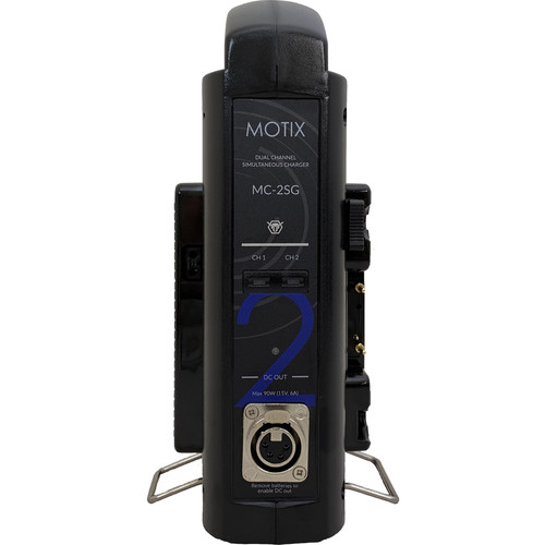 IDX System Technology MOTIX Dual Simultaneous Gold Mount Charger with 90W XLR Output