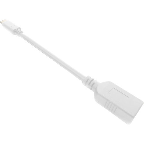 iEssentials USB Type-A to USB Type-C Adapter (3.3', White)