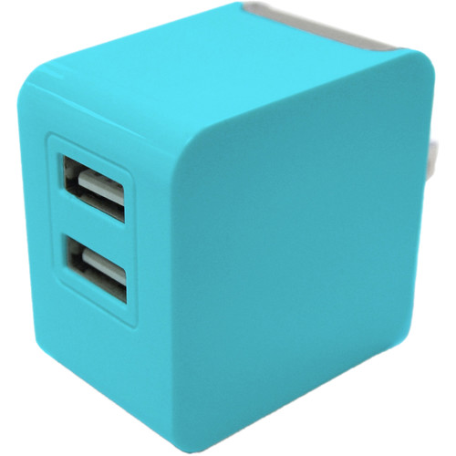 iEssentials 3.4A Dual USB Wall Charger (Blue)
