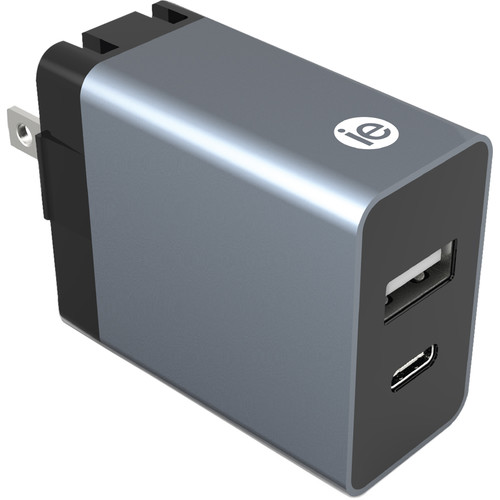 iEssentials 3.4A USB Type-A & USB Type-C Wall Charger