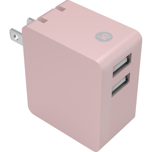 iEssentials 3.4A Dual Port USB Type-A Wall Charger (Rose Gold)