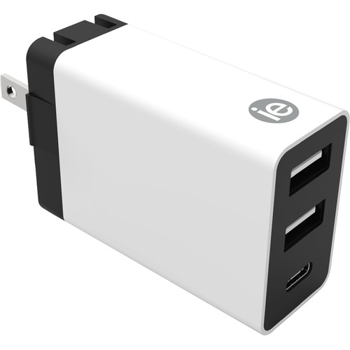 iEssentials 4.1A 3-Port USB Type-C Wall Charger