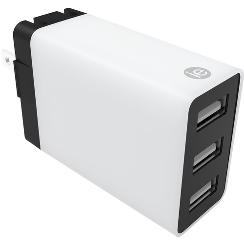 iEssentials 4.1A 3-Port USB Type-A Wall Charger (White)