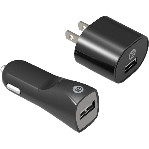 iEssentials 1A USB Wall and Car Charger Combo Kit