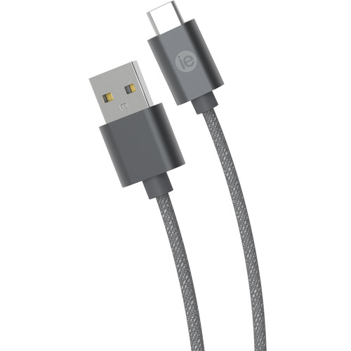 iEssentials Braided USB Type-C Cable (10', Gray)
