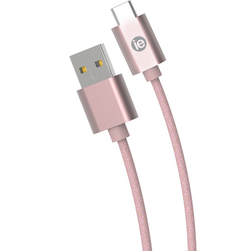 iEssentials Braided USB Type-C Cable (10', Rose Gold)
