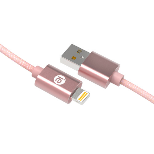 iEssentials Braided Lightning Cable (10', Rose Gold)